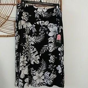 Ashley Blue Floral Print Skirt